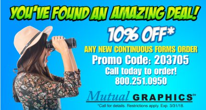 Mutual Graphics 10% OFF* Any New Continuous Forms Order