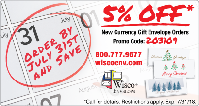 Wisco - 5% OFF* Currency Gift Envelopes