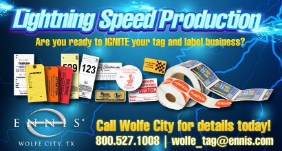 NH374 - Wolfe City high-speed turnaround on popular tags and labels