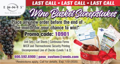 OH275 - Paso Robles Wine Basket Reminder Promo