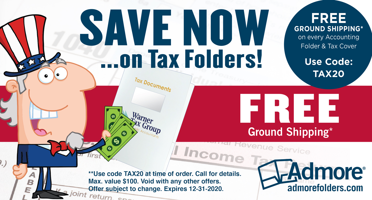 Admore - SAVE NOW on Tax Folders!