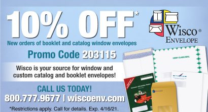 PH339 - Wisco FEB Monthly Promo-Booklet and Catalog Window Envelopes
