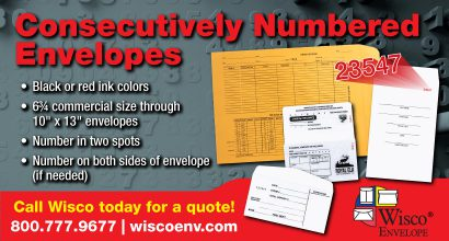 PH360 - Wisco MAR Promo-Consecutively Numbered Envelopes